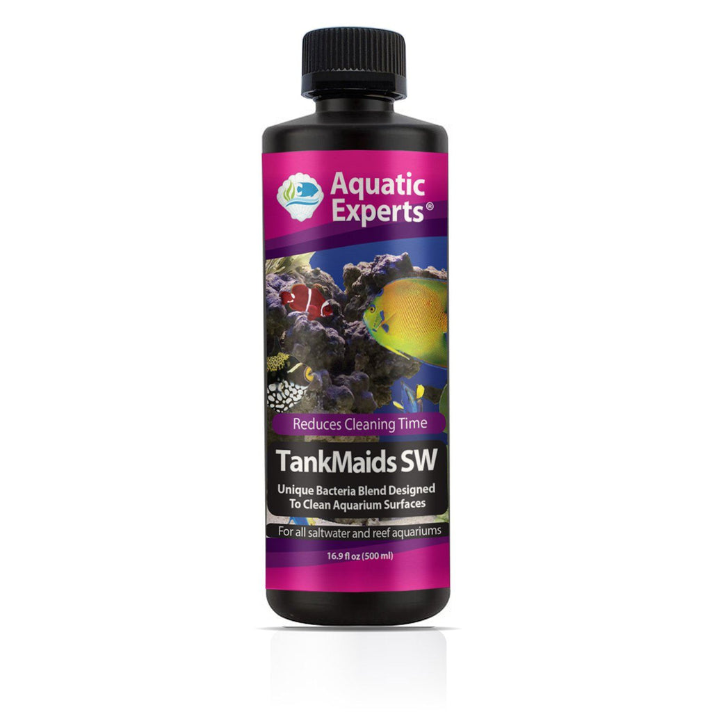 TankMaids SW Aquarium Biological Surface Cleaner - Unique Bacteria Designed for Cycling Saltwater & Reef Aquaria - Aquatic Experts