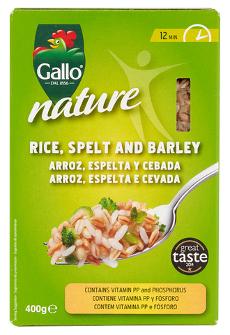 Riso Gallo Nature - Rice, Spelt and Barley