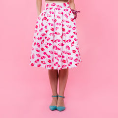 Lips Don't Lie Midi Skirt