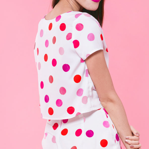 Dotty Days Crop Top