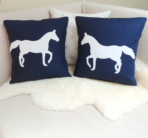 Horse Pillow Cover Pair