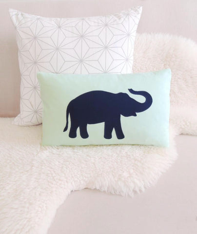 Lucky Elephant Pillow Cover