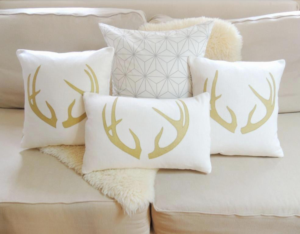 Antler Pillow Cover Trio - Alpine Chic
