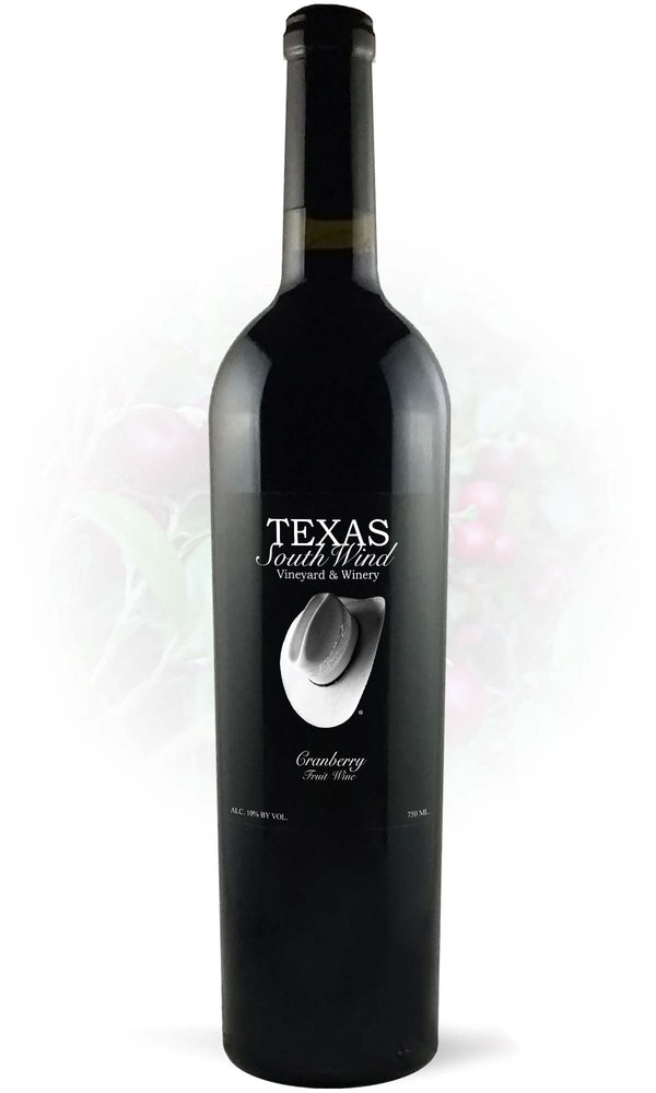 Cranberry Fruit Wine - Texas SouthWind Vineyard and Winery