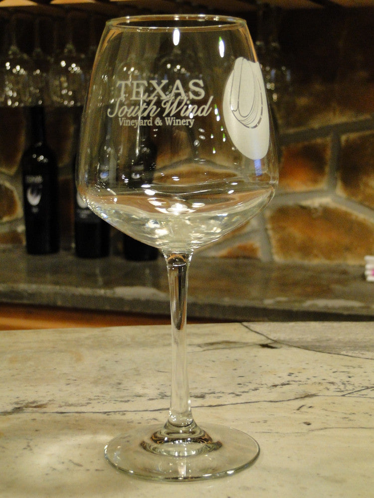Logo Glass - Texas SouthWind Vineyard and Winery