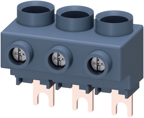 3-phase supply terminal for 3-phase busbar
