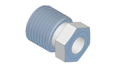 Adaptor, Male 8Mx4OD Tube