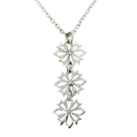9ct White Gold & Diamond Pendant by Ortak Jewellery