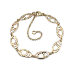 9ct Gold Contemporary Link Bracelet by Ortak