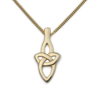 9ct Yellow Gold Classic Celtic Knot Pendant by Ortak