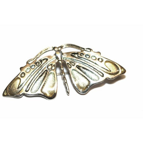 Butterfly Brooch Enamel (Woodland-Colours) & Sterling Silver, Handmade by Ortak Jewellery