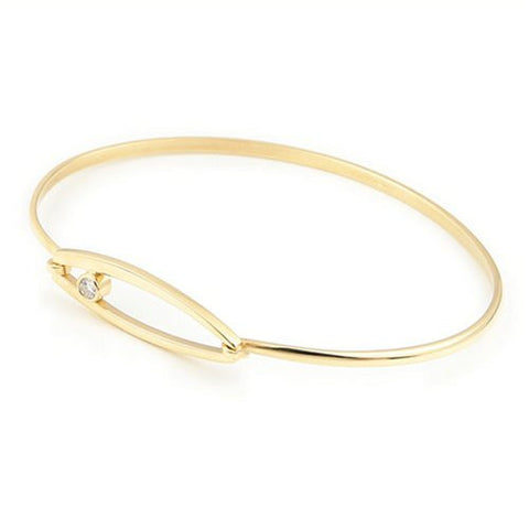 9ct Yellow Gold & Diamond Bangle by Ortak