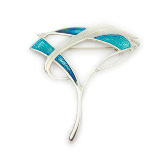 Enamel and Sterling Silver Aquatic Brooch EB712, Handmade by Ortak Jewellery