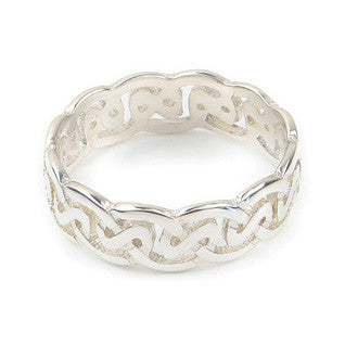 Gold Sterling Silver Statement Celtic Knot Ring by Ortak Jewellery