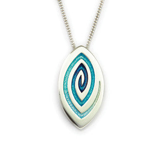 Silver Enamel and Sterling Silver Pendant EP266, Handmade by Ortak