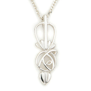 Sterling Silver,9ct Yellow Gold Pendant P548, Handmade by Ortak