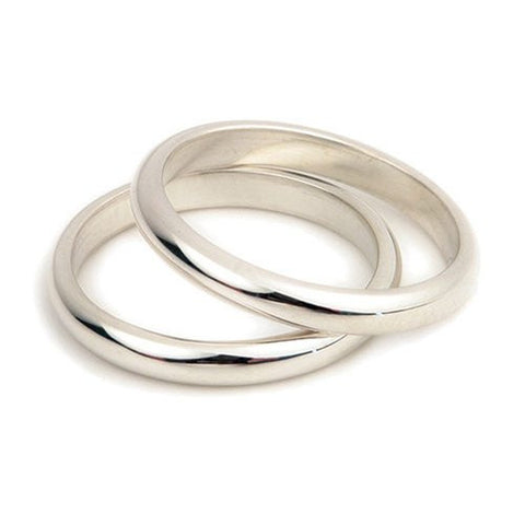 Sterling Silver or 9ct Gold Band Ring, Ortak Jewellery, (Men's or Women's)