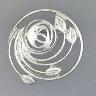 Sterling Silver Brooch B418, Handmade by Ortak