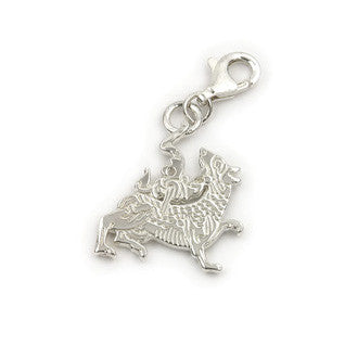 Sterling Silver Charms C280, Handmade by Ortak
