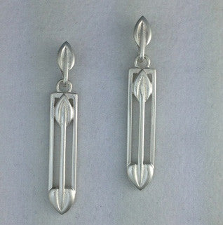Sterling Silver Earrings E621, Handmade by Ortak