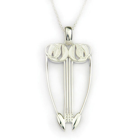 Sterling Silver Pendant, Inspired by Charles Rennie Mackintosh, by Ortak Jewellery