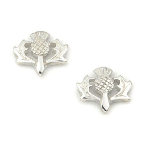 Sterling Silver or 9ct Gold Thistle Earrings by Ortak Jewellery