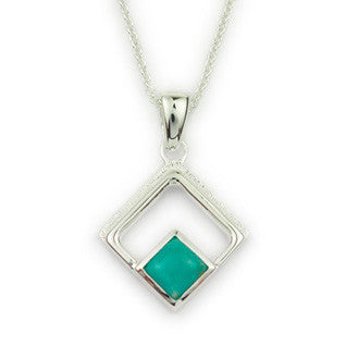 Turquoise & Sterling Silver (December Birthstone) Pendant by Ortak