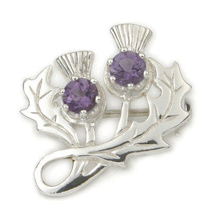 Violet Enamel 'Smoky Quartz' and Sterling Silver or 9ct Yellow Gold Brooch CB34, Handmade by Ortak