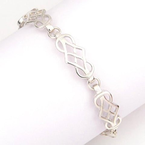 Sterling silver or 9ct gold Celtic Bracelet by Ortak Jewellery