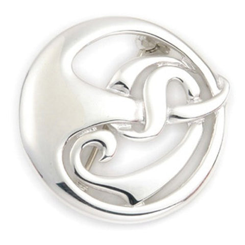 Sterling Silver Celtic Brooch B396, Handmade by Ortak Jewellery