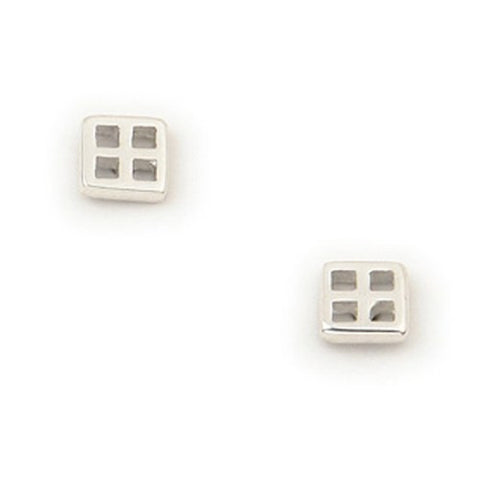 Sterling Silver or 9ct Gold Earrings, Inspired by Charles Rennie Mackintosh, by Ortak