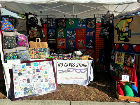No Capes Store outside booth