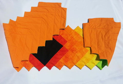 Citrus table runner. Colorful, unique, summer, runner.