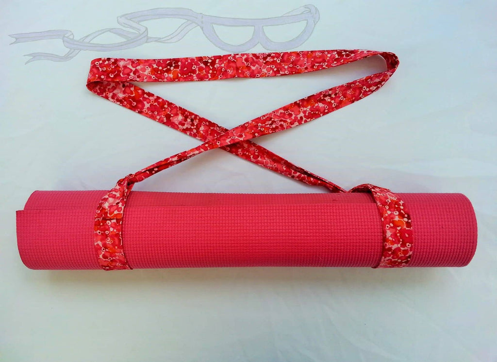 Pink mat sling in batik cotton fabric.