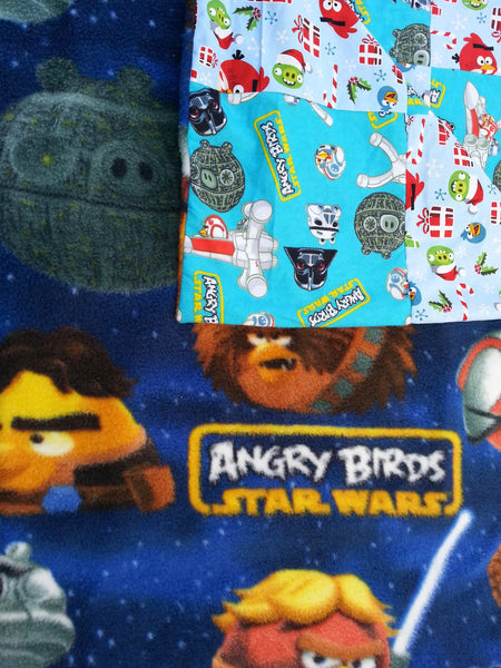 Angry Birds, Angry Birds Fabric, Bedding, Bedroom, Christmas Angry Bird, Christmas blanket, Holiday blankets, Housewares, kid blanket, kids blankets, small blanket, Star Wars Angry, Star Wars Birds, Under 40 gifts, X mas gifts, Xmas Blanket