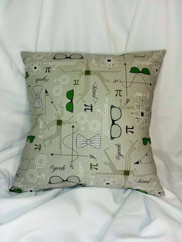 Science, Math, Physics fabric made into a cotton throw pillow cover for you.