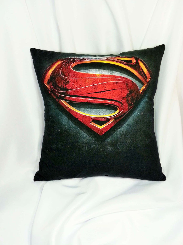 clark kent, comic movie decor, comic pillow, DC comics, hero bedding, hero pillow, man cave pillow, Movie decoration, movie gift, movie gifts, movie pillow, nerd pillow, superhero bedding, Superman, superman logo