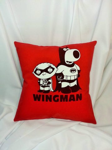 Stewie and Brian Griffin Family Guy t-shirt made into a pillow cover.