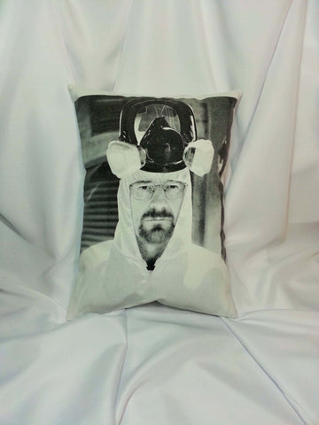 Breaking Bad Walter White cotton t-shirt made into a decorative pillow cover.