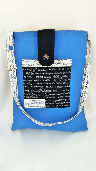 College student bag with science notes, college gift
