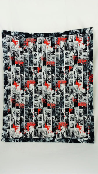 Walking Dead character fabric made into a blanket, Comic Book blanket