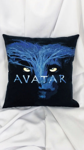 James Cameron Avatar 2009 movie with blue Tree of Life as Na'vi tshirt made into a decorative throw pillow