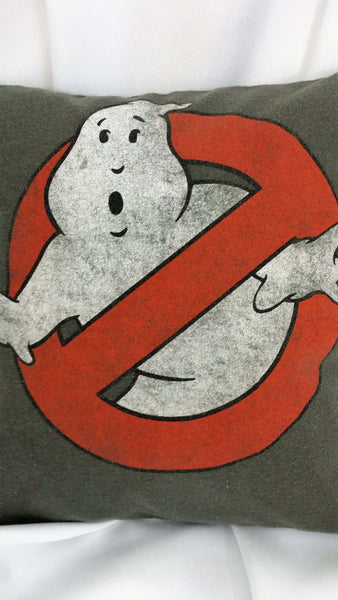 movie pillow movie bedding halloween ghost movie throw pillow movie throw pillow cover movie pillow cover No ghosts logo Ghostbusters logo Ghostbuster logo Who ya gonnna call Ghostbusters No ghost logo No ghosts ghostubster