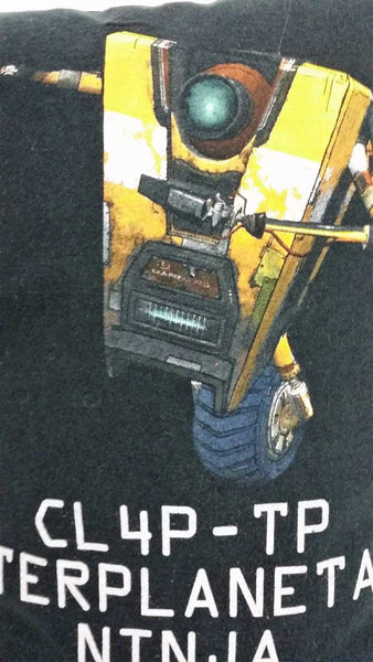 gaming pillow video game pillow gamer gift video game bedding borderlands hyperion hyperion CL4P-TP CL4P-TP general purpose robot Claptrap's New Robot Revolution INAC Interplanetary Ninja Assassin Claptrap clap trap claptrap borderlands
