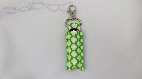 Green Tiled Swivel Clip Lip Balm Holder