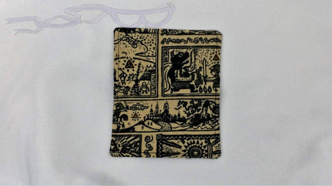 Legend of Zelda fabric made into a business card holder.