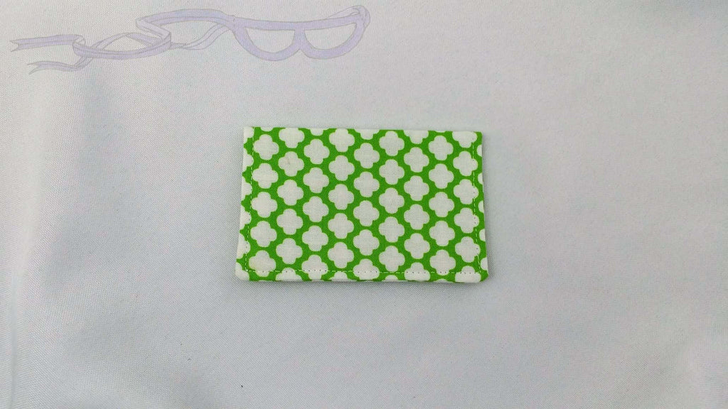 Green and White Gift Card Holder