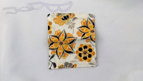 Yellow and Black Flowers Credit Card Holder