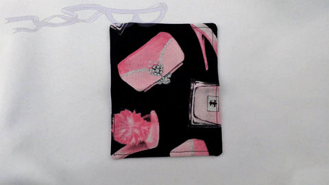 Pink Shoes and Perfume Bottles Credit Card Holder