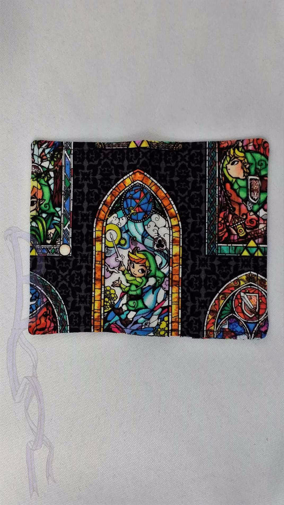 Gift Card Holder made from Legend of Zelda Stained Glass fabric